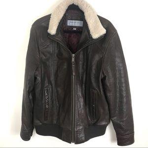Marc New York Andrew Marc Leather Bomber Jacket